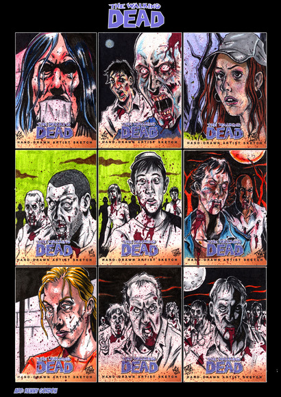 Walking Dead - Sketch cards