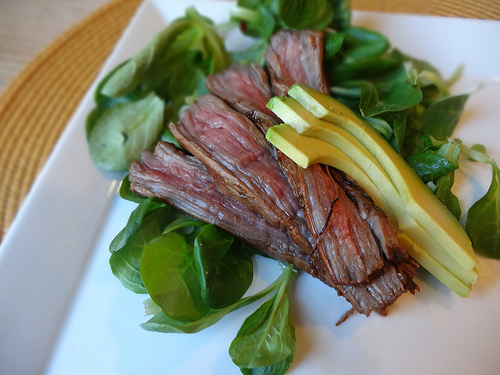 Recipe: Mexican Flank Steak With Lamb Lettuce